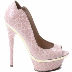 bebe Farah Platform High Heel Misty Rose Size 6